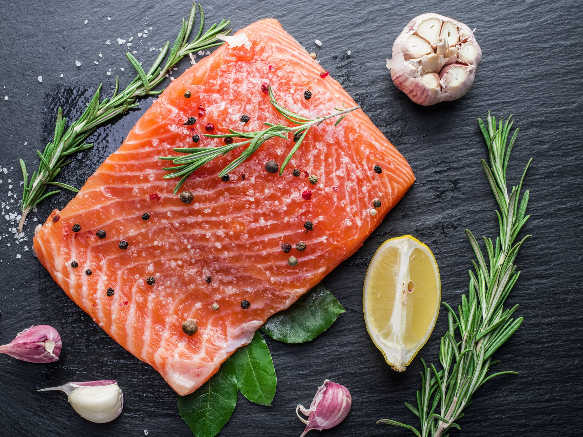 Salmon is a good source to lower the risks of cardiovascular diseases